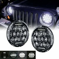 "7"" inch Sealed Beam DRL LED Headlight For Jeep Wrangler JK TJ CJ LJ JL Pair"