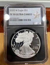 2020 W Silver Eagle PF 70 Ultra Cameo NGC
