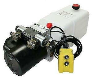 Flowfit 24V DC Double Acting Hydraulic Power pack with Tank, Back Up Hand Pump &