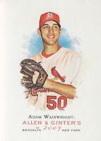 2007 Topps Allen and Ginter Baseball #21 Adam Wainwright St. Louis Cardinals