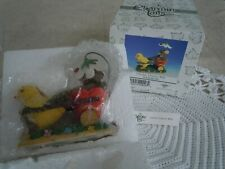 Charming Tails Chickie Chariot Ride 88/100 Figurine Fitz & Floyd Nib