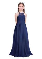 Mädchen Chiffon Abendkleider Cocktailkleid Ballkleider Spitzenkleid Party Kleid