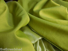 8 1/2Y Vintage Antique Satin Drapery Fabric 48W Chartreuse Green Gorgeous 50-60s