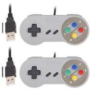 2 x Retro Super Nintendo SNES USB Controller Jopypads for Win PC/MAC Controllers