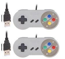 2 x Retrò Super Nintendo SNES Controller USB jopypads per Vincere PC/MAC controller