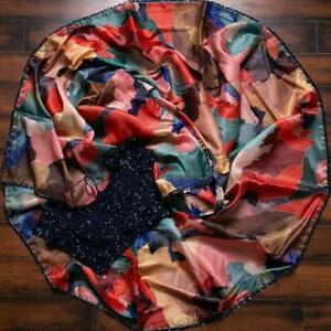 Satin Silk Saree Indian Bollywood Designer Sequence Lace Party Pakistani Sari