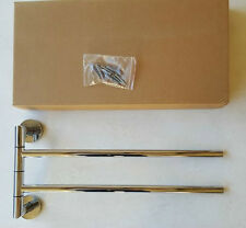 Bathroom Kitchen Double swing out Towel Rail Stainless steel NEW in Box