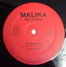"LEON GIBSON - Boogie Street 1984 Rare FUNK BOOGIE - USA Malika 12"""
