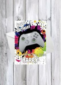 XBOX Gaming personalised kids birthday card - any age/name/relation