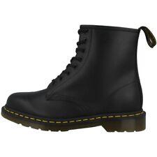 Dr Doc Martens 1460 Bottes 8-Loch Bottes Chaussures Unisexe Noir Lisse 11822006