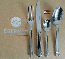MENAGERE 24 PIECES EN INOX 18/10 2mm EGERMAN  couteau cuilleres fourchette poele