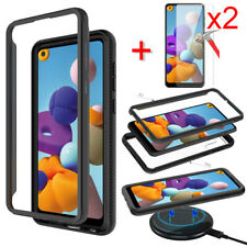 For Samsung Galaxy A21 Case Shockproof Bumper Slim Phone Cover Screen Protector