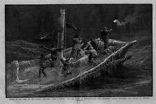 NEWFOUNDLAND NAUTICAL FISHING SCHOONER CREW RESCUED BY STEAMSHIP DISTRESS SIGNAL