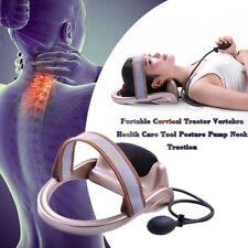 Cervical Tractor Vertebra Health Care Tool Posture Pump Neck Traction office Usa