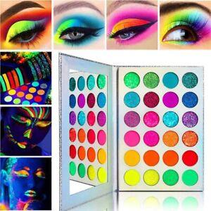 GlitzyGurl Compact Neon Pigment Glitter Eye Shadow Palette 24 Shade & Mirror Set