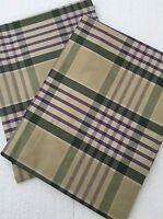 Ralph Lauren Standard Pillow Shams Set Of 2 Olive Plaid