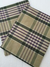 Ralph Lauren Standard Pillow Shams Set Of 2 Olive Plaid
