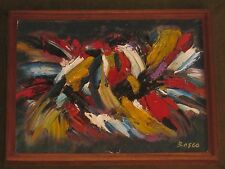 BEST PIERRE BOSCO (1909-1993) ABSTRACT COCKFIGHT OIL PAINTING ON CANVAS