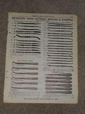 "1940 Nicholson ""Swiss Pattern"" Rifflers & Scrapers Price List Ad Catalog Page"