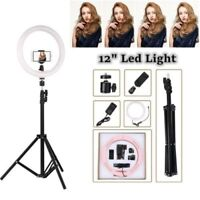 "12"" LED Ring Light Dimmable Photography 5500K Photo Studio Video Lamp for Iphone"