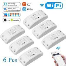 6pcs Wifi Smart Switch for Home Automation, Amazon Alexa & Google Home 10A/2200W