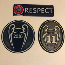 Champions League Trophy Football Shirt Patch Set Badges BOH Real Madrid 11  Final d1b41a6aa