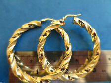9 Carat Yellow Gold Precious Metal Earrings without Stones