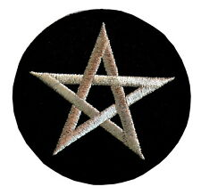 Pentagram Iron On Patch jacket pentacle denim emo patches witch witches pagan