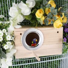 New Wooden Nest Pet Parrot Budgies Parakeet Nesting Box Station Bird Supply Us