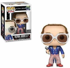 RARE Elton John Glitter 63 RWB FYE FUNKO POP VINYL New in Mint Box + P/P