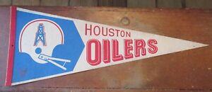 Vintage Pennant Houston Oilers Team Logo Football