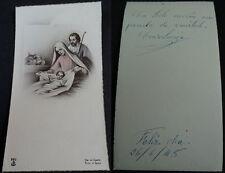 ESTAMPA HOLY CARD SAGRADA FAMILIA BELEN AÑO 1948 MIRA MI TIENDA EN EBAY CC1477
