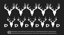 Deer Kill Tallies Vinyl Window Decal Sticker Marks