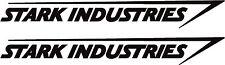 Stark industries logo (Iron Man) paire de 150mm de large autocollants en vinyle dans toute couleur