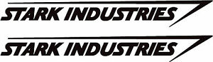 stark industries logo (iron man) pair of 450mm wide vinyl stickers in any colour