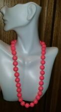 Necklace Double Knotted Hand Tied Vntg Japan Pink Molded Bead Howlite