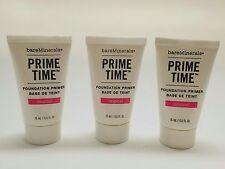 New bareMinerals Prime Time Foundation Primer 0.5oz (15ml) - (3 pack) W7243