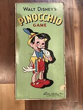 Pinocchio Board Game COMPLETE Walt Disney 1939 RARE Parker Brothers