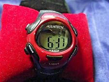 Woman's  Aquatech Alarm Chrono Watch  **Nice** B16-Box 03