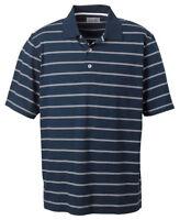 Ashworth Men's New Performance Short Sleeve Stripe Polo Shirt Tee Top. 2038C