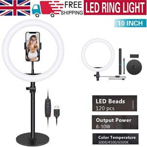 """Neewer 10"""" LED Ring Light Dimmable Lighting Kit USB Table Top Video Light Kit"""