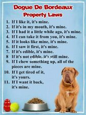 Dogue De Bordeaux Property Laws Magnet Personalized With Your Dog's Name #2