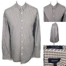 GANT 100's Poplin Regular Fit Shirt Size 2XL Long Sleeve Button Down XXL Check