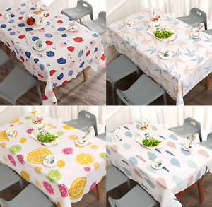 Waterproof Wipe Clean Table Cloth Cover Protector Dining Kitchen
