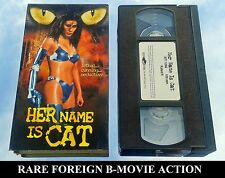 "HER NAME IS CAT aka ""PAU MUI"" (VHS) RARE B FOREIGN w Michael Wong (TRANSFORMERS)"