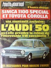 L'AUTO JOURNAL 1971 24 ESSAI SIMCA 1100 S TOYOTA COROLLA L'AUTO VOLANTE CANAM