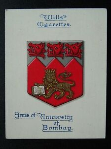 No.4 BOMBAY MUMBAI UNIVERSITY Arms of Universities L25 by W.D.& H.O.Wills 1923