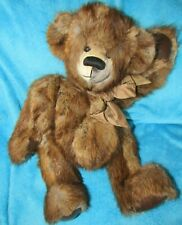 "LARGE 20"" REAL LONG FUR BEAVER ? SWEET TEDDY BEAR VINTAGE FUR COAT OOAK ARTIST"