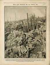 Poilus Tranchée Mort-Homme Bataille  Verdun Cote 304 Explosion Marmite 1916 WWI