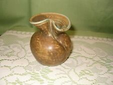 Small Decorative Brown Rounded Pottery Vase